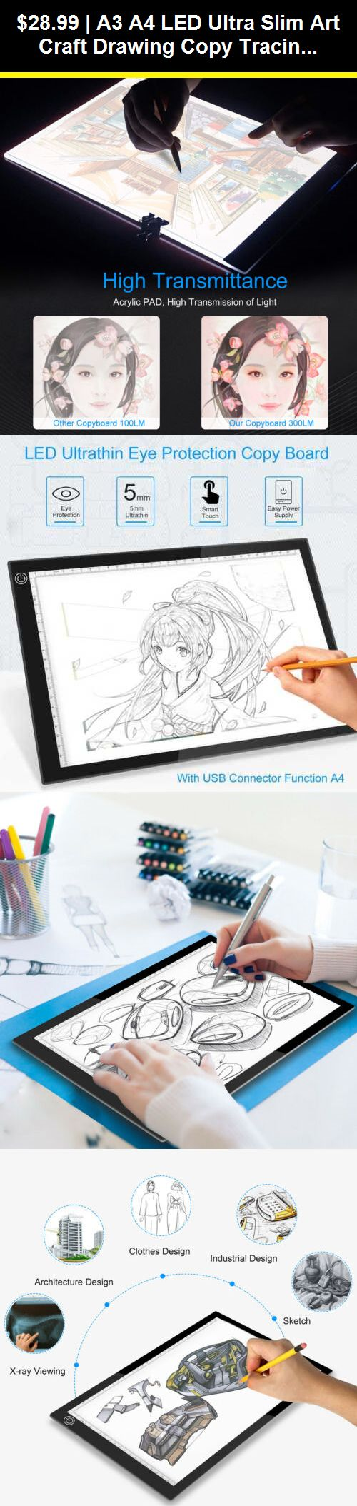 LED Drawing Light Box Board Practical A3 USB Power Cable Dimmable Brightness Artcraft Tracing Light Pad for Artists Drawing Sketching Animation Desk
