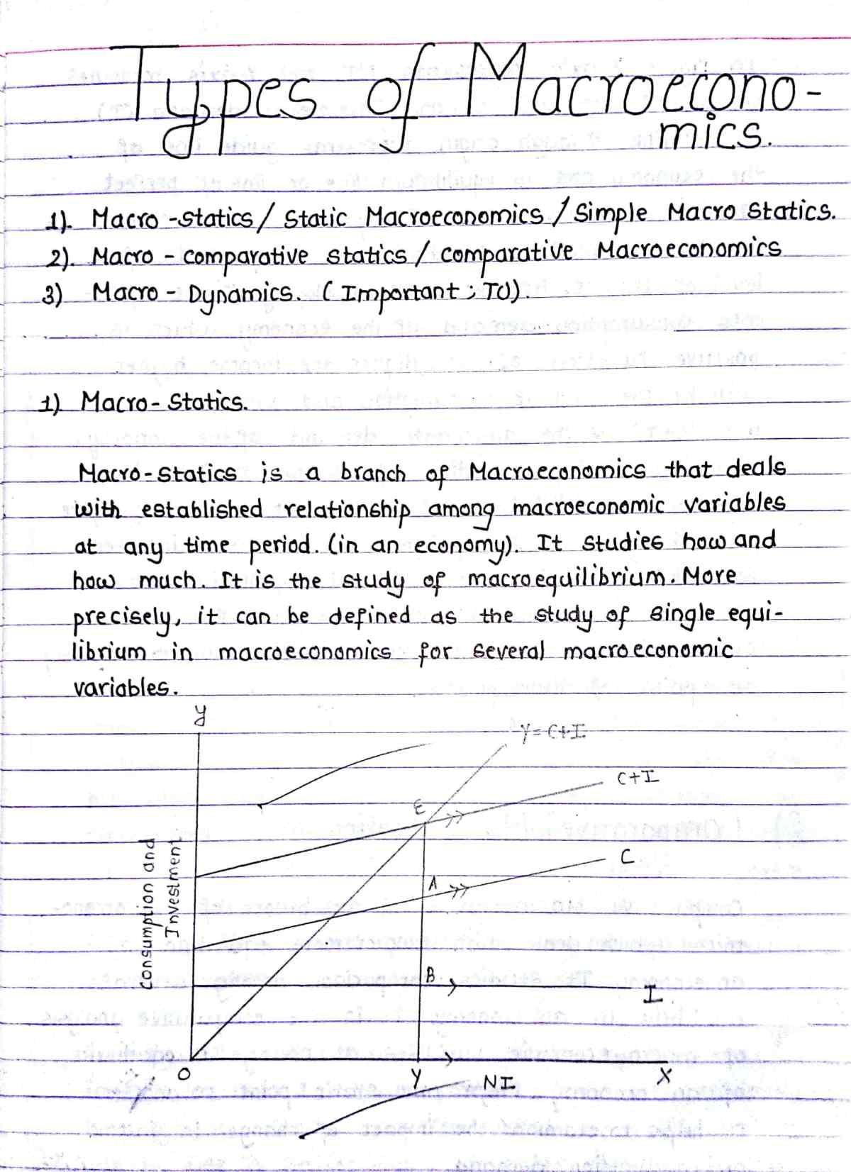 Macro Statics Comparative Statics And Dynamics Study Deeper Economics Lessons Economics Notes Macroeconomics