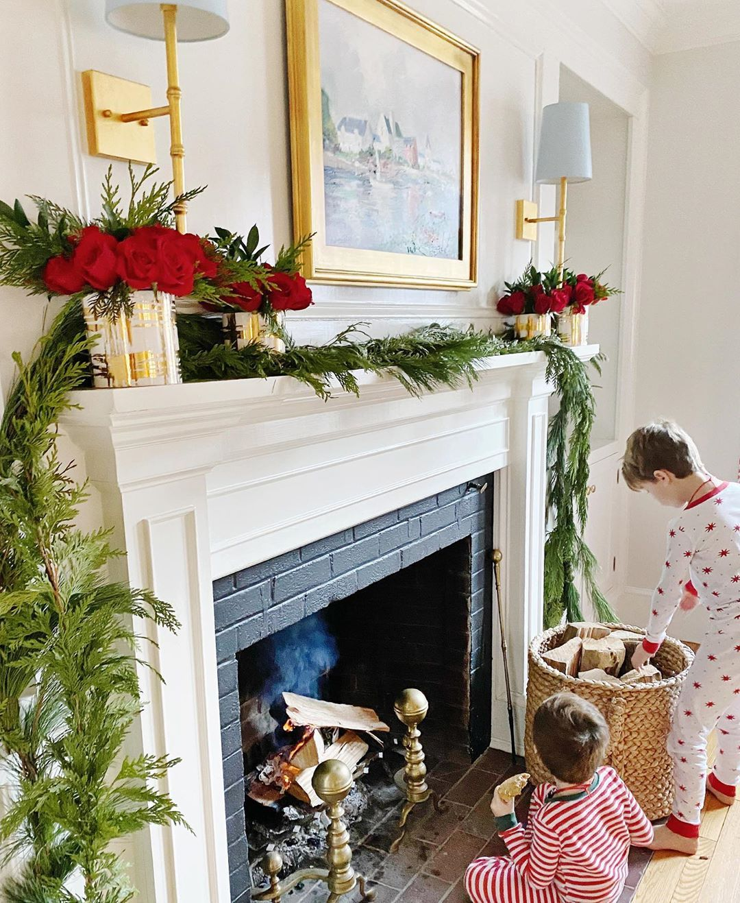 """Grapevine Interiors on Instagram """"Breakfast by the fire"""