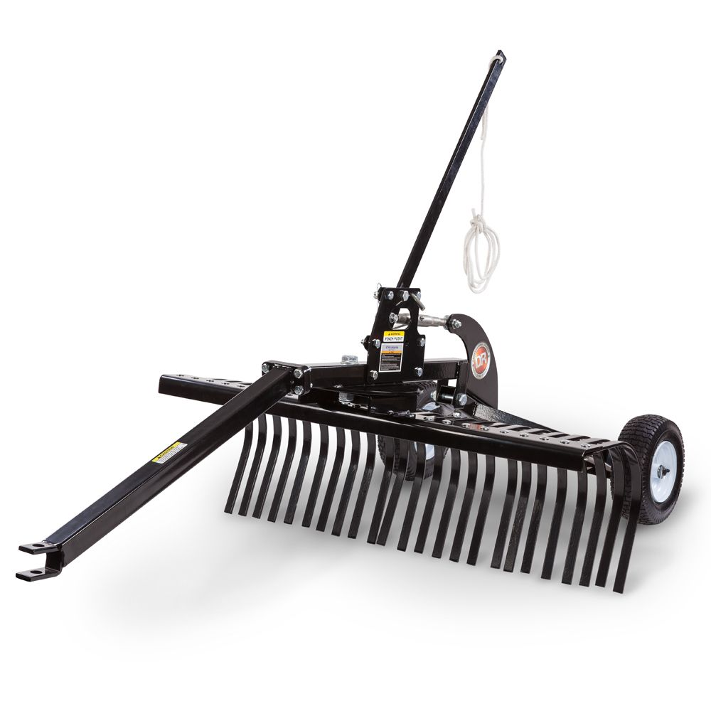 Pull Behind Rakes | 48 Inch Tow Behind Landscape Rake - DR ATV Landscape Rake Tools Pinterest Landscape Rake, Tractors