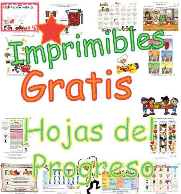 Imprima+hojas+del+progreso+de+metas+saludables+para+niños+gratis.+ ...