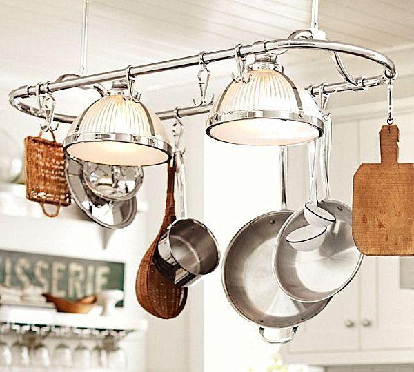 Lovely Pot Rack Pendant Lighting
