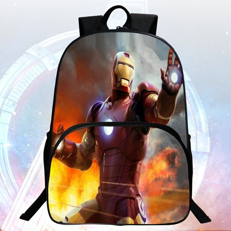 6b4f79d4c1ce New Style 16-inch Printing Hero Iron Man School Bag Avengers Kids Bags Children  Backpack Boys School Backpacks Students Mochila