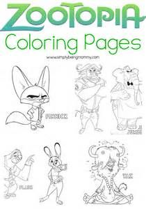 Zootopia Printable Coloring Pages