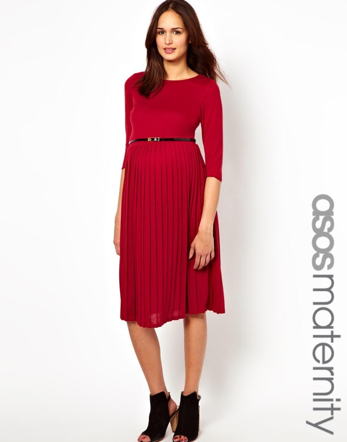 Asos maternity midi dress with pleated skirt httppicvpic asos maternity midi dress with pleated skirt httppicvpicwomen ombrellifo Gallery