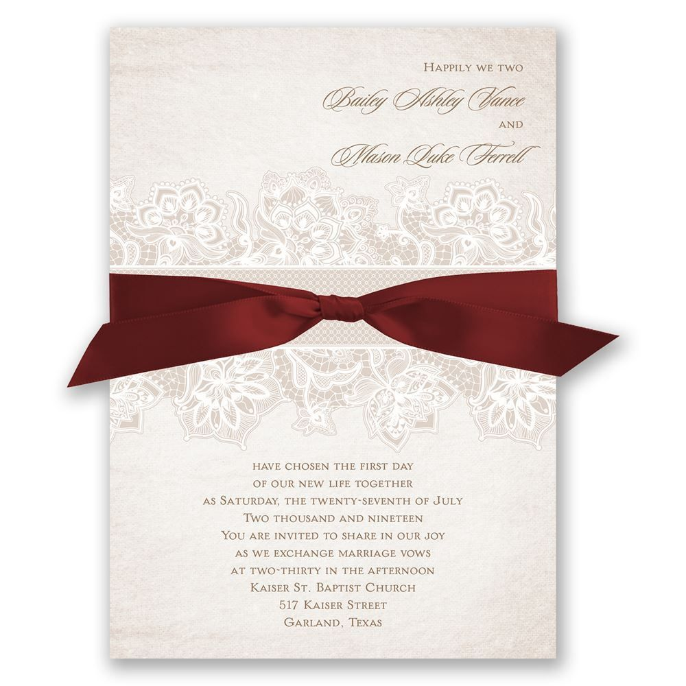 Lace Lining - Invitation | Planing a wedding | Pinterest | Vintage ...