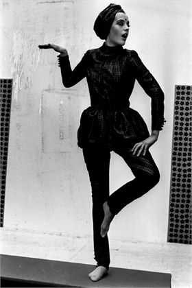 1968, Mary Quant dress,  ©Getty Images. Tunic/dress over trousers