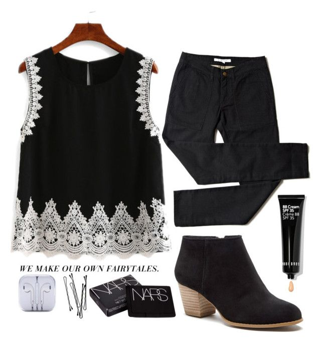 """""""OH IT'S SO CLEAR NOW"""" by retalleyation ❤ liked on Polyvore featuring Sole Society, NARS Cosmetics, BOBBY and Bobbi Brown Cosmetics"""