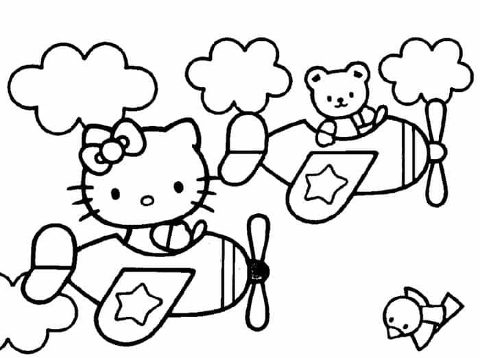 Hello Kitty In Airplane Coloring Pages Hello Kitty Colouring Pages Hello Kitty Coloring Kitty Coloring