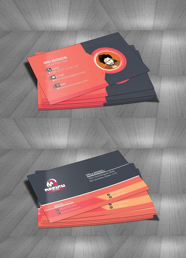 Free MRI Design Studio Business Card Mock-Up Print Ready Designs - id card psd template