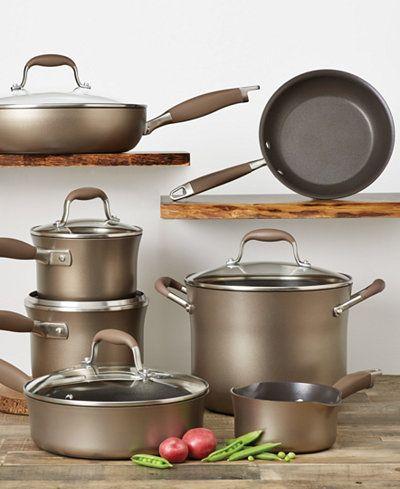 Anolon Advanced Bronze Hard Anodized 12 Pc Cookware Set