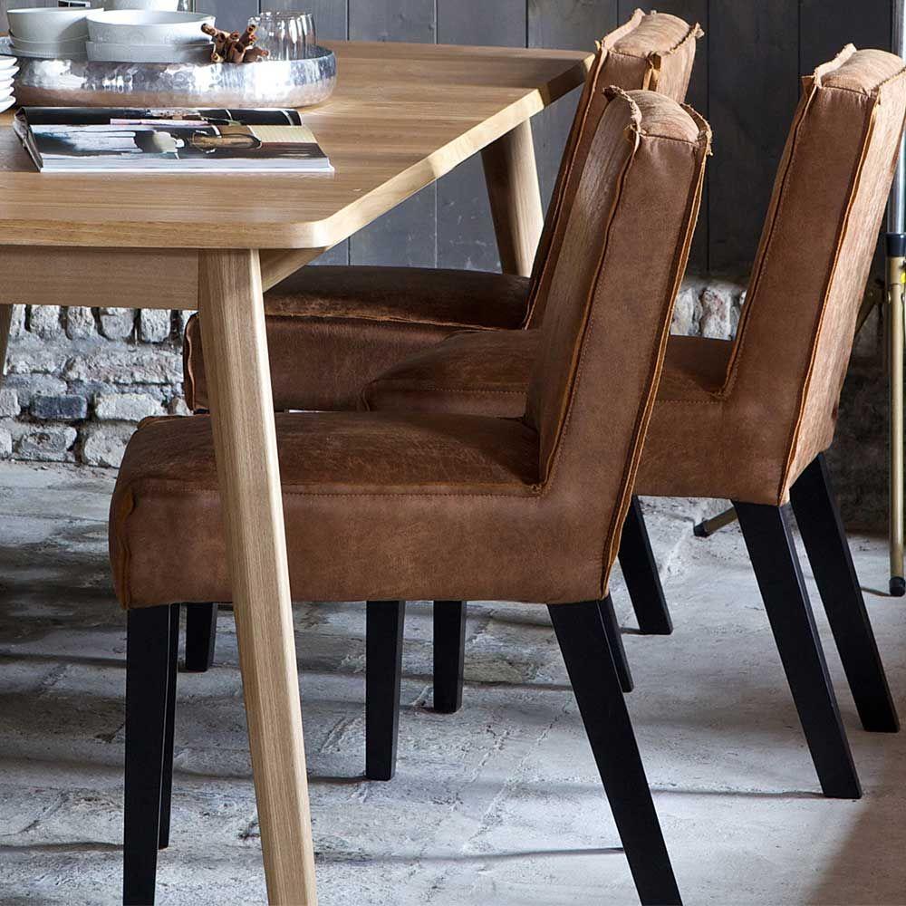 Esszimmerstuhl In Cognac Braun Recycling Leder (2er Set) Jetzt Bestellen  Unter: ...