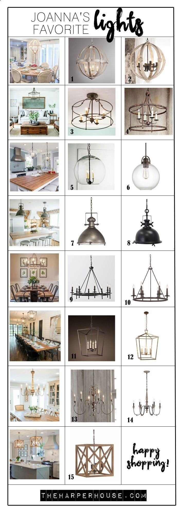Check out these light fixtures used by Joanna Gaines on Fixer Upper. Shopping sources  links included! The Harper House