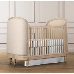 Well Excuuuuse Me Fancy Baby Crib Toddler Bed Upholstered