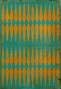 Pattern 8 Dropping Acid - Vintage Vinyl floor cloths by Spicher&Co.