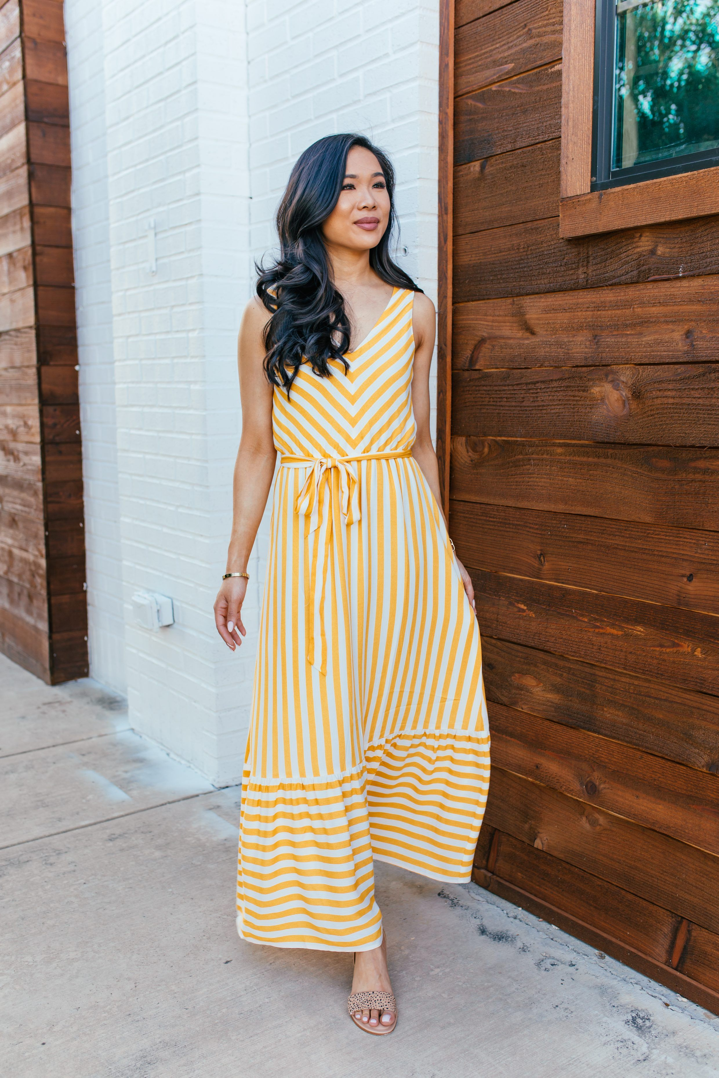 Yellow Chevron Maxi for Spring & Summer - Color & Chic  yellow