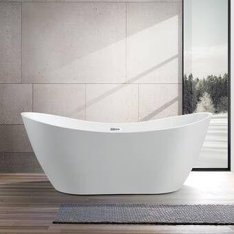 Akdy 70 87 X 31 5 Soaking Bathtub Reviews Wayfair With Images Free Standing Bath Tub Bathtub Remodel