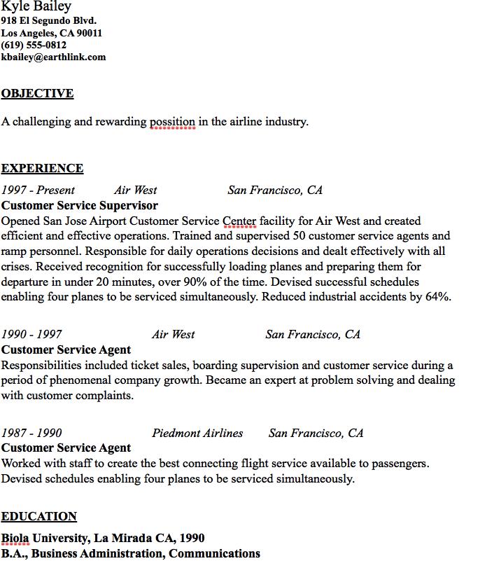 airline resume tradinghub co