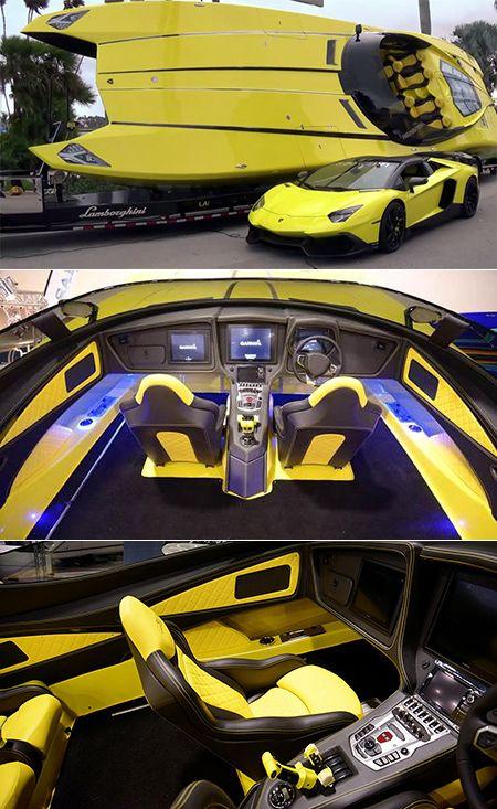 When Lamborghini Aventador Meets Speedboat This 1 3 Million Beast