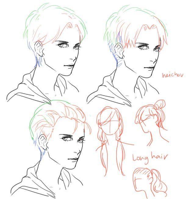 draw hair #tutorials #hair