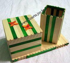 Porta Joias De Palitos 17 Dondurma Cubugu Elisi Elisi