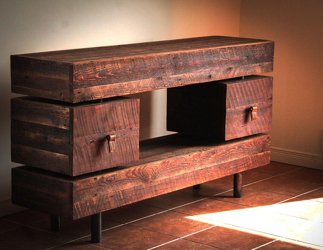 Meuble T L En Bois De Grange Salon Pinterest Meuble T L  # Table Pour Tele