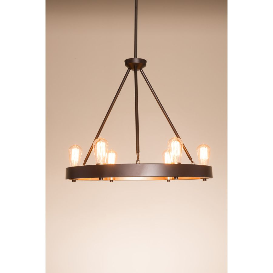 Shop Kichler Lighting Covington 2449 In 6 Light Olde Bronze Rustic Chandelier At Lowes
