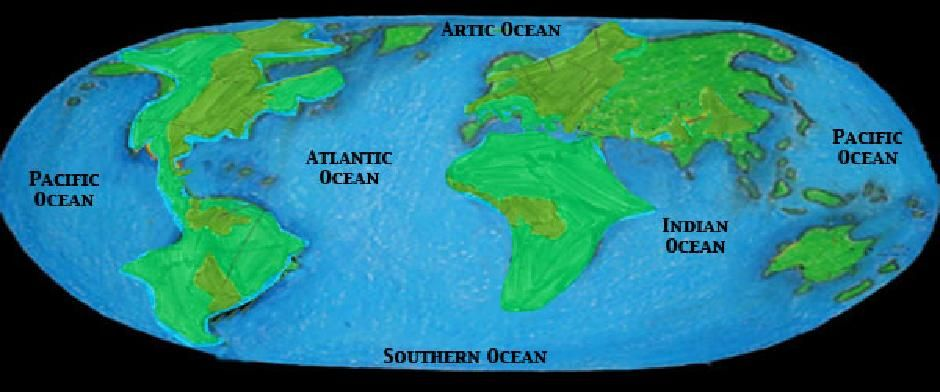 1 5 Main Ocean Biomes It consists of the Atlantic, Indian - copy world map with ocean trenches
