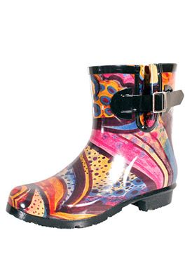 Nomad Footwear Droplet Turquoise Monet Rain Boots
