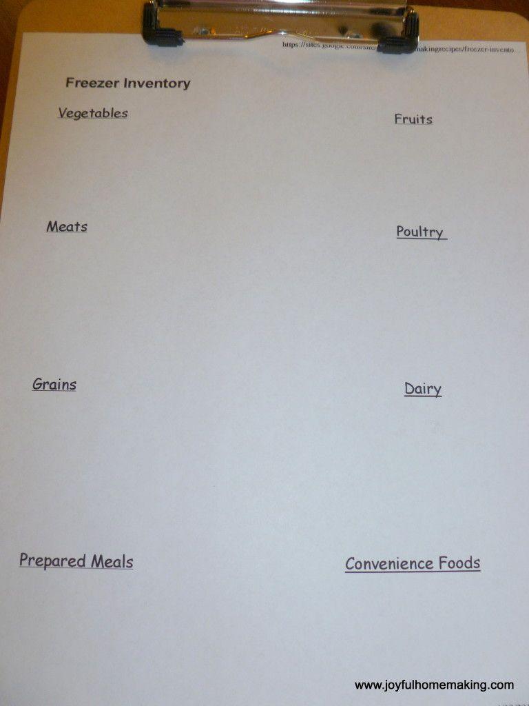 Inventory List For Freezer  Freezer Freezer Organization And