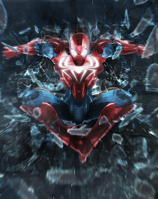Iron spider by bosslogic deviantart com on deviantart