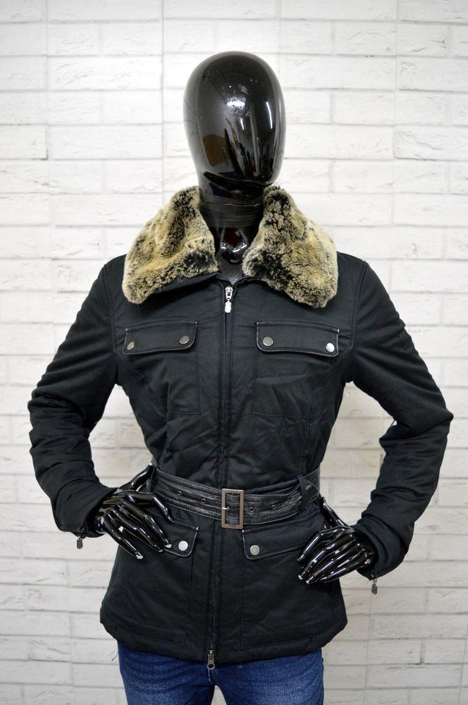 Giubbotto BELSTAFF Donna Taglia 46 Jacket Giacca Piumino Giubbino Parka Nero fc784f647ad