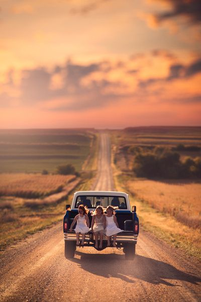 Sometimes all you need are some good friends, a pickup truck and the open road - this is where you 3 are going to be sitting