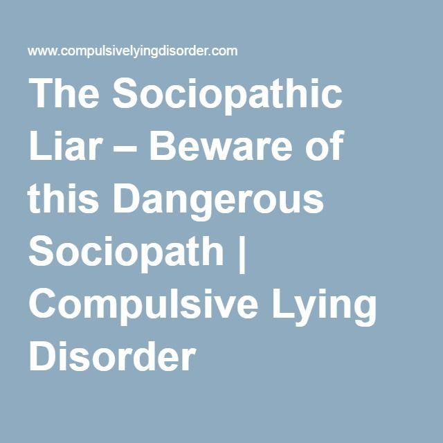 Ptsd and compulsive lying