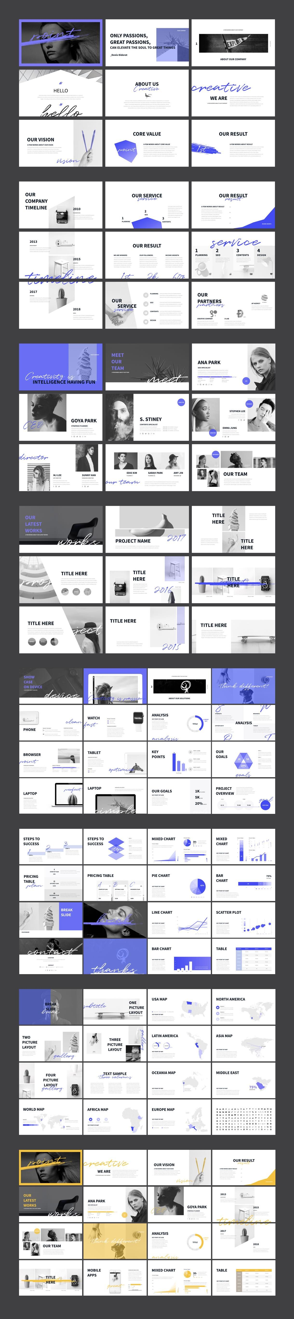 Cool Simple Layout Point Keynote Presentation Template Portfolio Business
