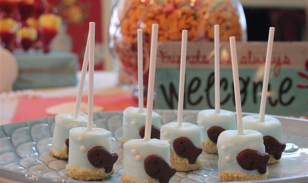 Under the sea marshmallow pops