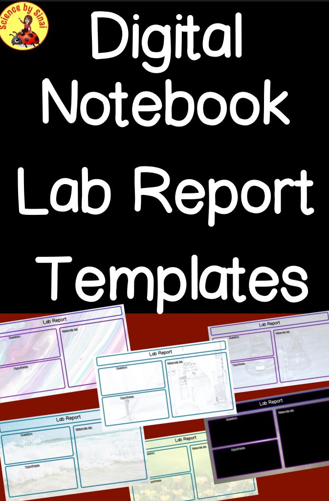 LAB REPORT TEMPLATES Digital Science Notebook Distance Learning | TpT