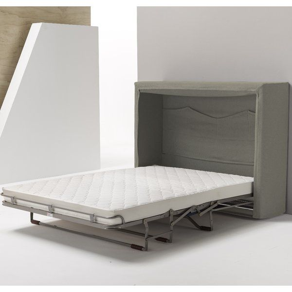 Sue Full Double Upholstered Murphy Bed With Mattress With Images