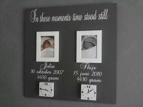 Cute creative board to remember the moment your kids were born! *smelt*!