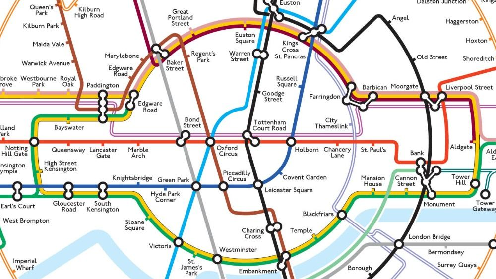 New London Tube Map Goes Round In Circles In 2020 London Tube