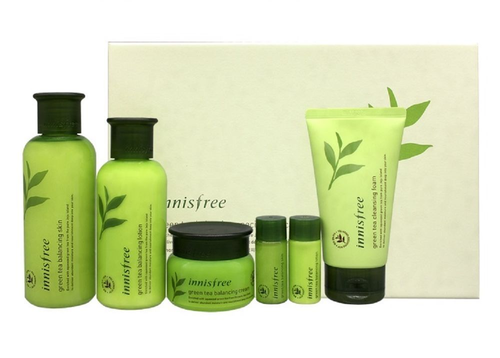 Innisfree Green Tea Balancing Skin Lotion Cream Cleansing Foam Set Moisturizer Skin Lotion Cream Lotion Skin Care Specials