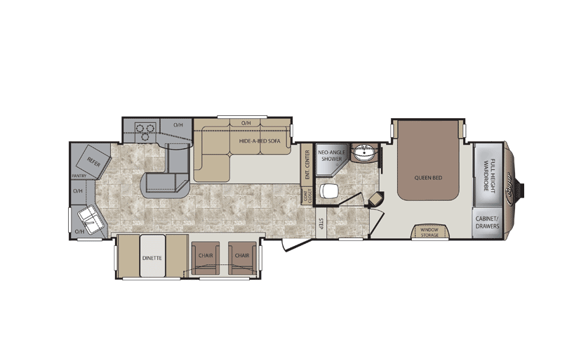 5th wheel floor plans with rear kitchen | cougar 331mks fifth