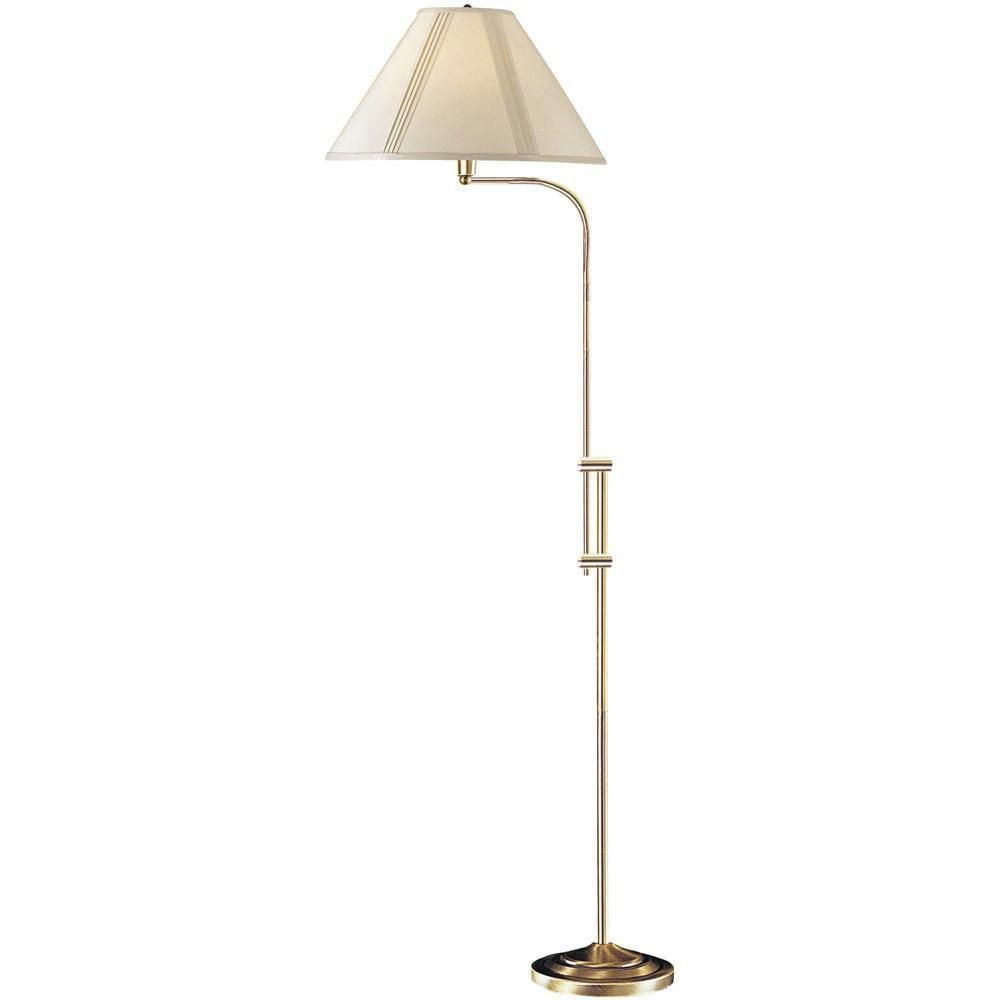 Cal Lighting Bo 216 Ab 150w 3 Way Floor Lamp With Adjustable Pole In 2020 Fabric Shades Floor Lamp Pharmacy Floor Lamp