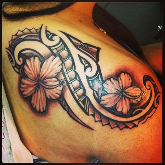 Tattoo Tribal Flower Hawaiian Tattoo Polynesian Tribal Tattoos Tattoos