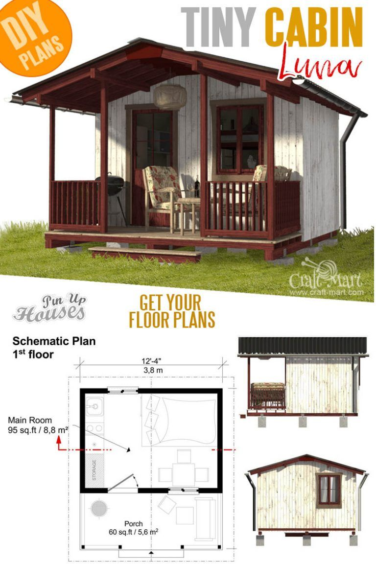 16 Cutest Small And Tiny Home Plans With Cost To Build Craft Mart Tiny House Floor Plans Small House Plans Tiny House Plans