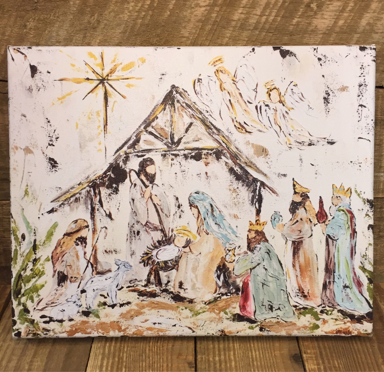 Nativity Nativity Painting Nativity Art Manger Scene