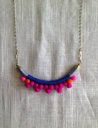 Image result for yarn pom pom jewelry