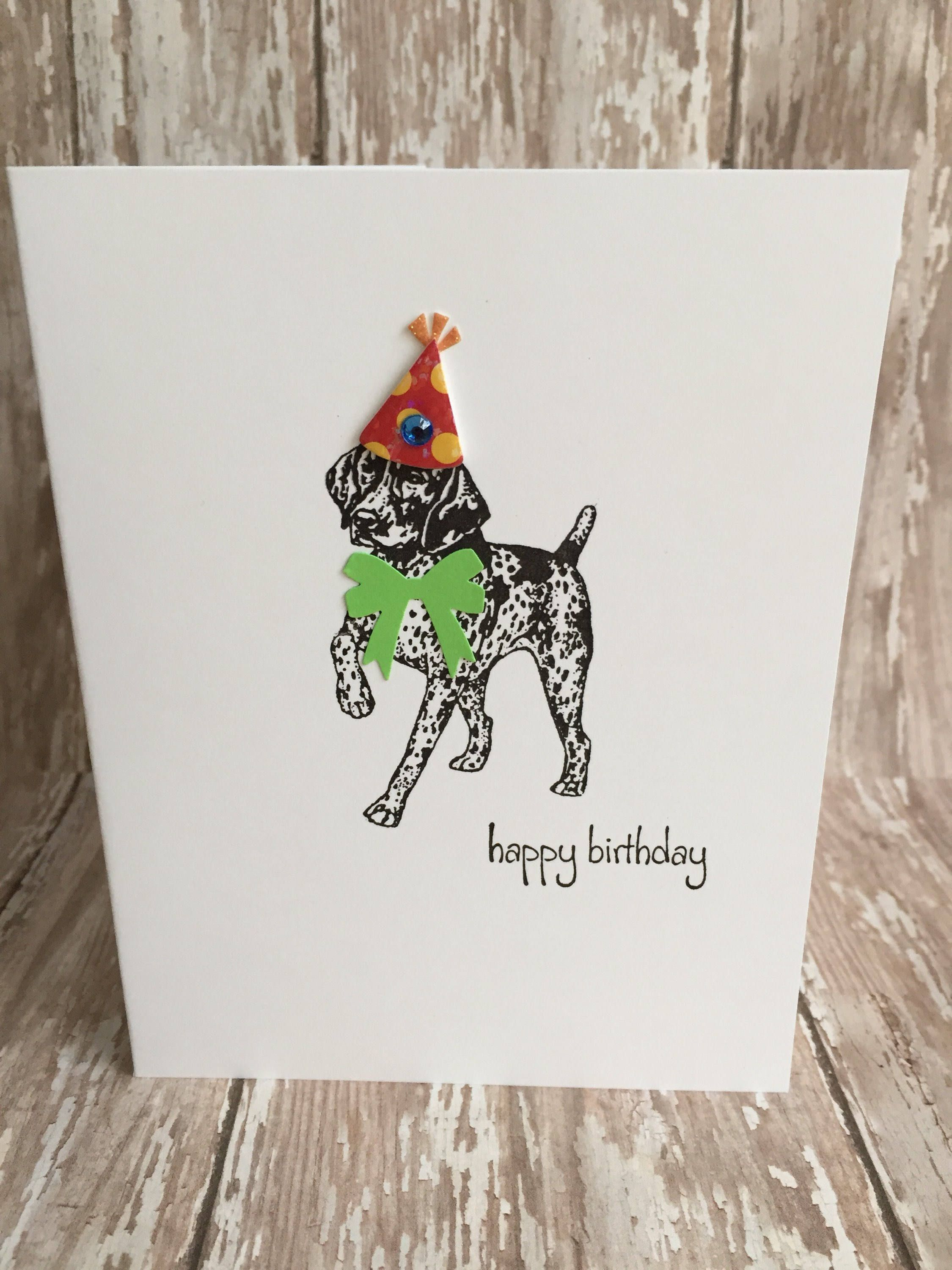 GERMAN SHORTHAIRED GERMAN WIREHAIRED POINTER DOG  BIRTHDAY GREETINGS NOTE CARD