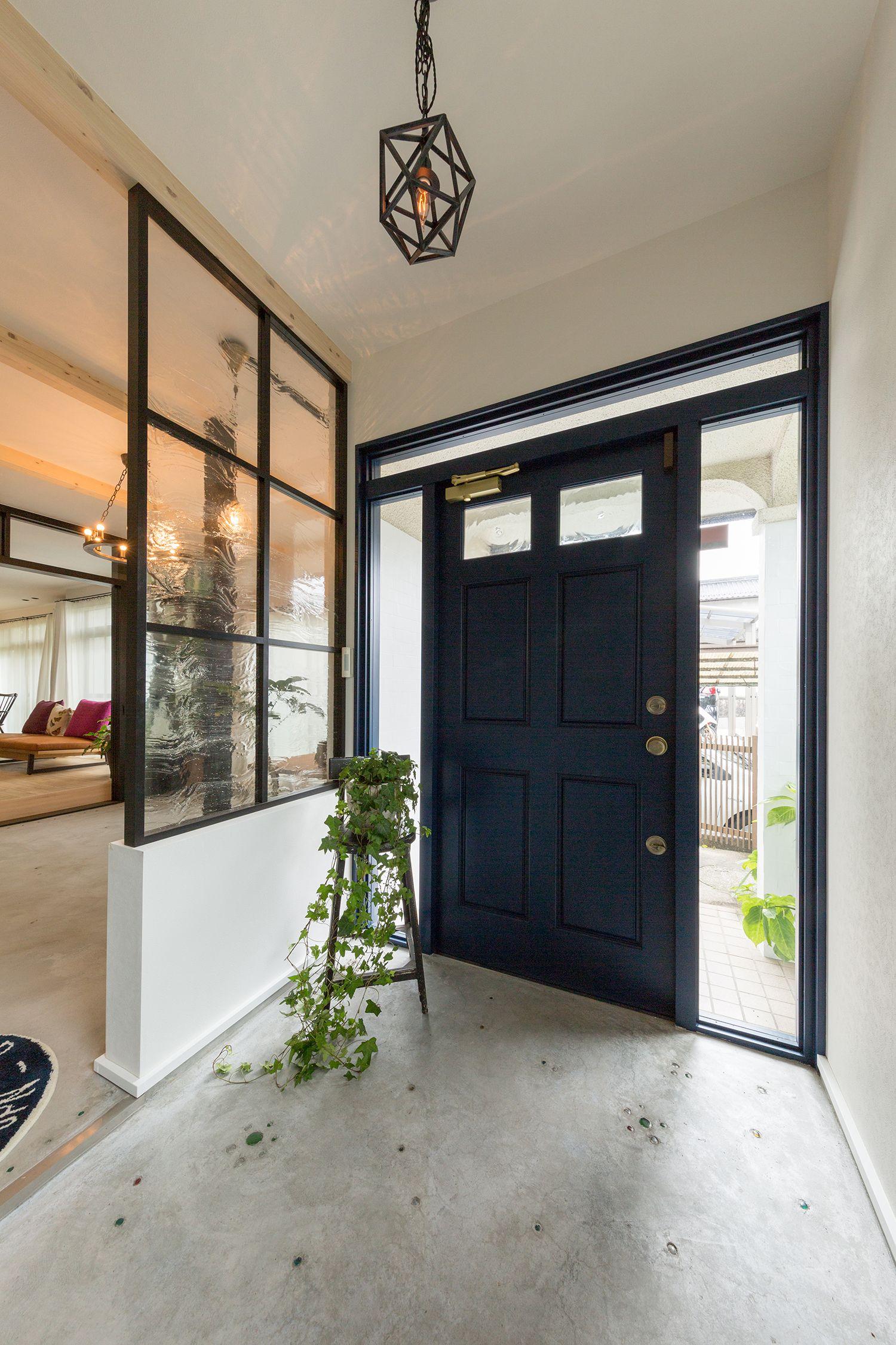 施工例一覧 広島のリノベーション 注文住宅 アクトリー ブルックリンスタイル 家 玄関ホール デザイン 古民家 リノベーション