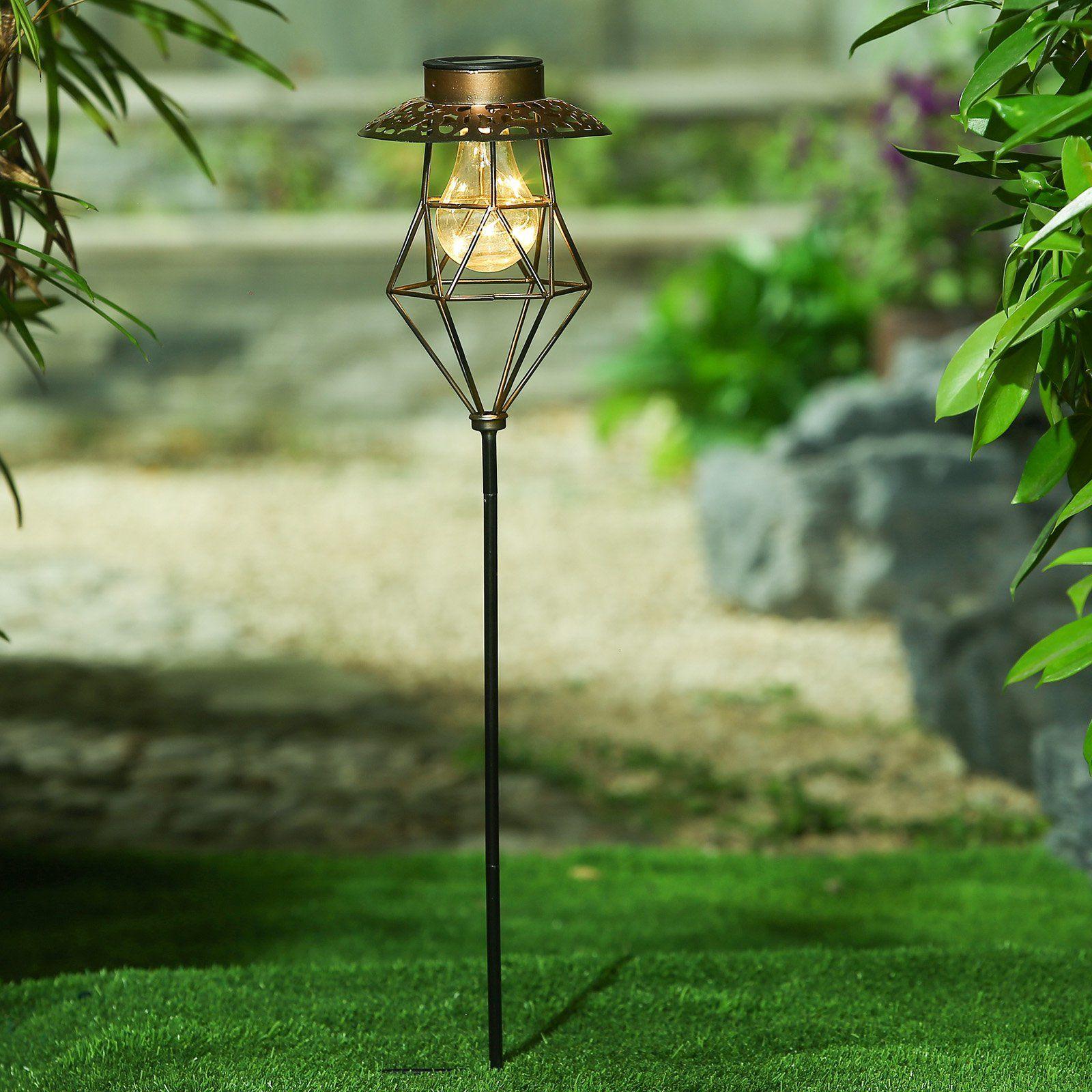 Winsome House Whsl280 Outdoor Cage Lantern Solar Garden